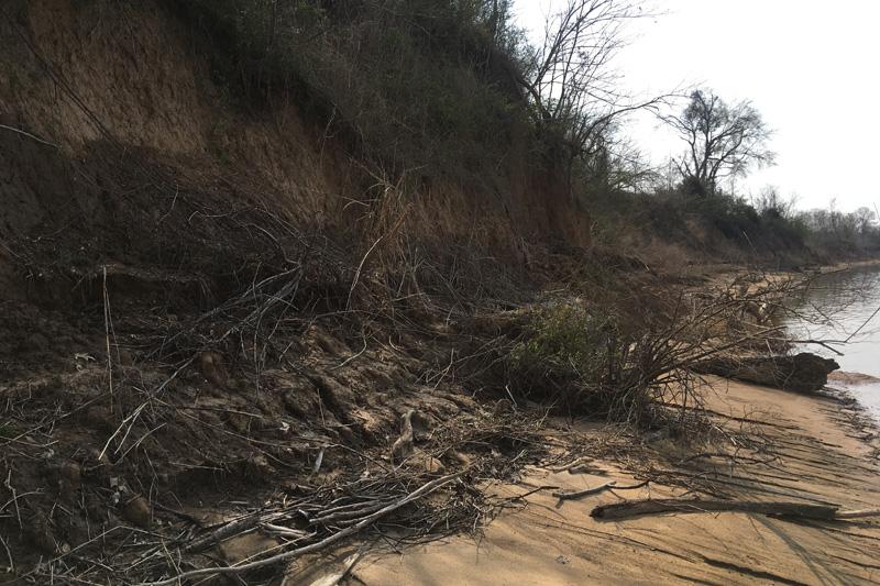 Erosion area.